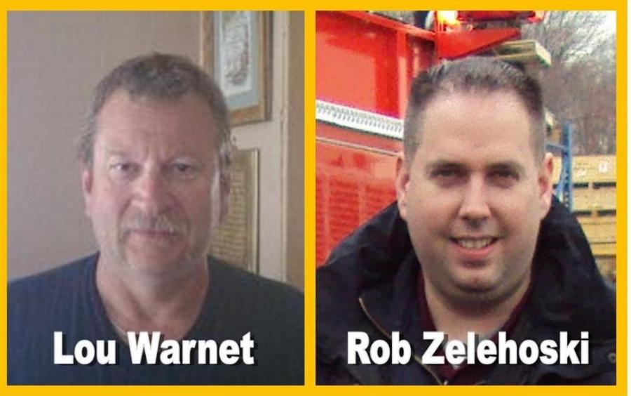 Lou Warnet (L) joins Rob Zelehoski representing Foley's Fire Apparatus Division.