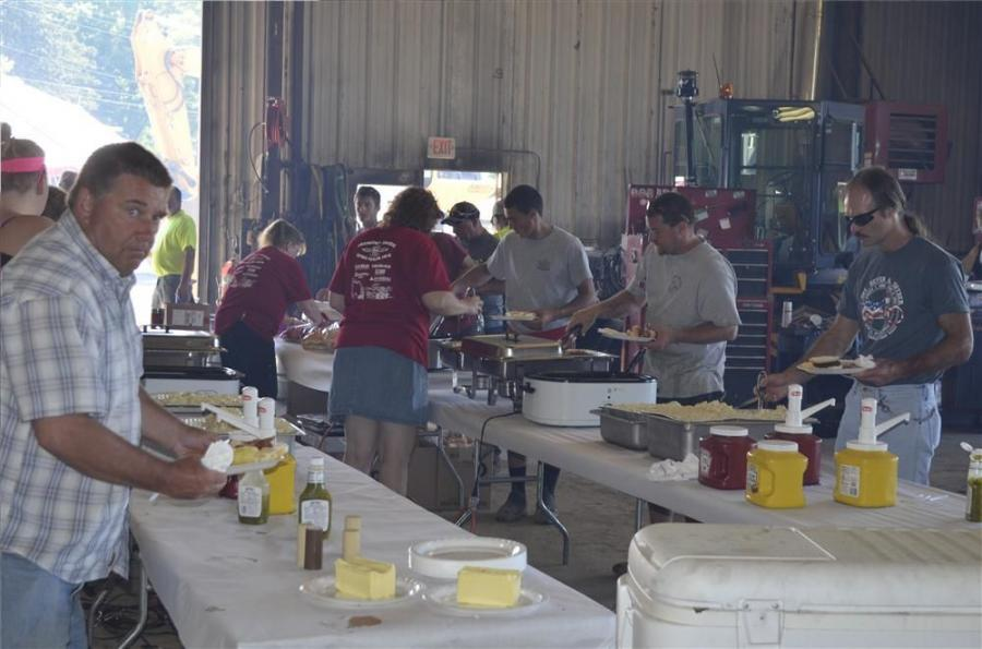 Pulled pork, hamburgers, hot dogs and sweet corn, along with perfect weather, contributed to a successful event.