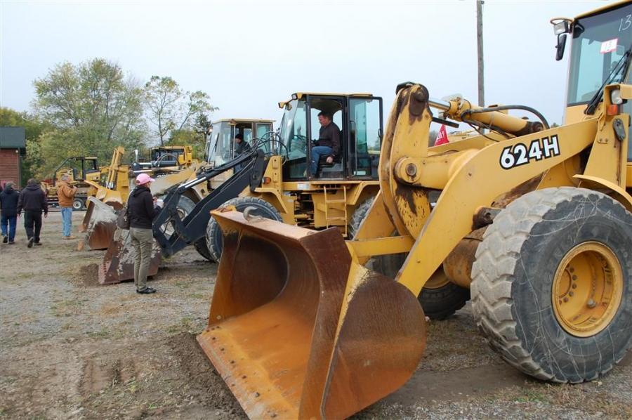 Several late model wheel loaders caught a lot of attention with upstate New York snowstorms just around the corner.