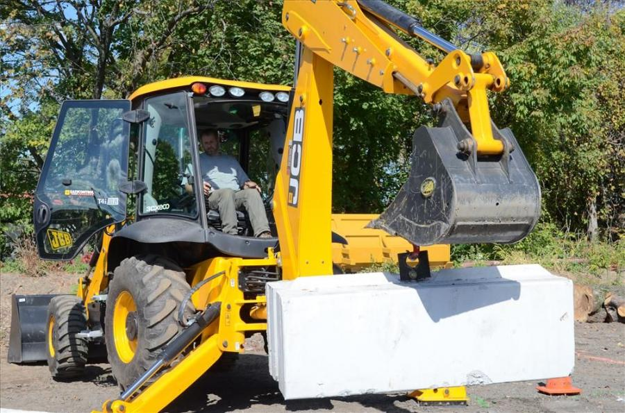 Rick Castaneda, owner of Reality Management and Construction, Princeton N.J., tried out the JCB 3CX eco backhoe loader.
