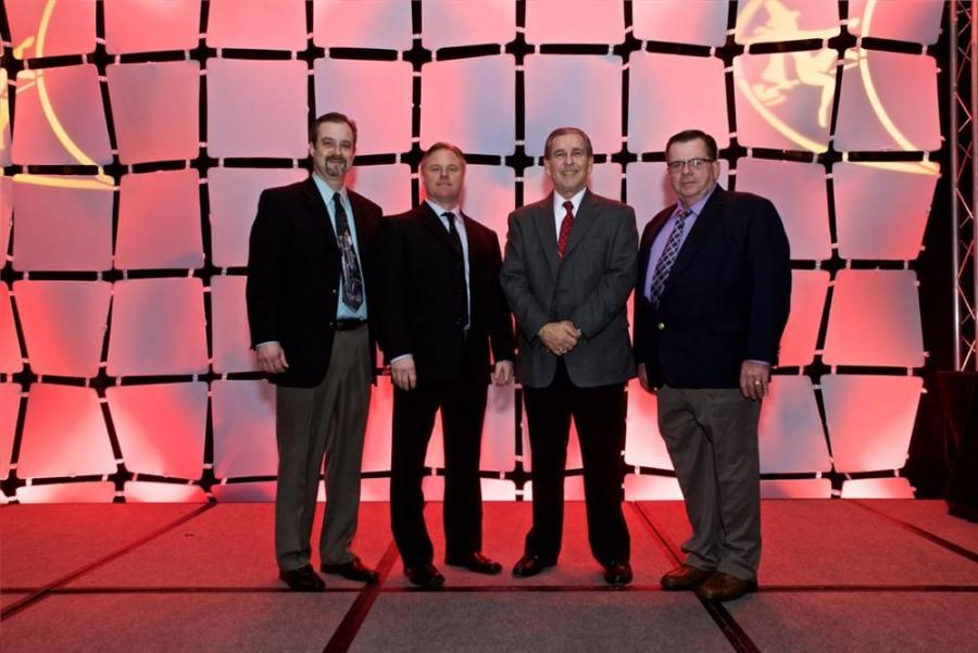 (L-R) are Mark McMillion — Hammerhead eastern U.S. regional manager; Tom Reszkowski — Jesco Inc. New Jersey territory manager; Tony Casenta — Jesco Inc. Delaware and Pennsylvania territory manager; and Bill Durr — Jesco Inc. Connec