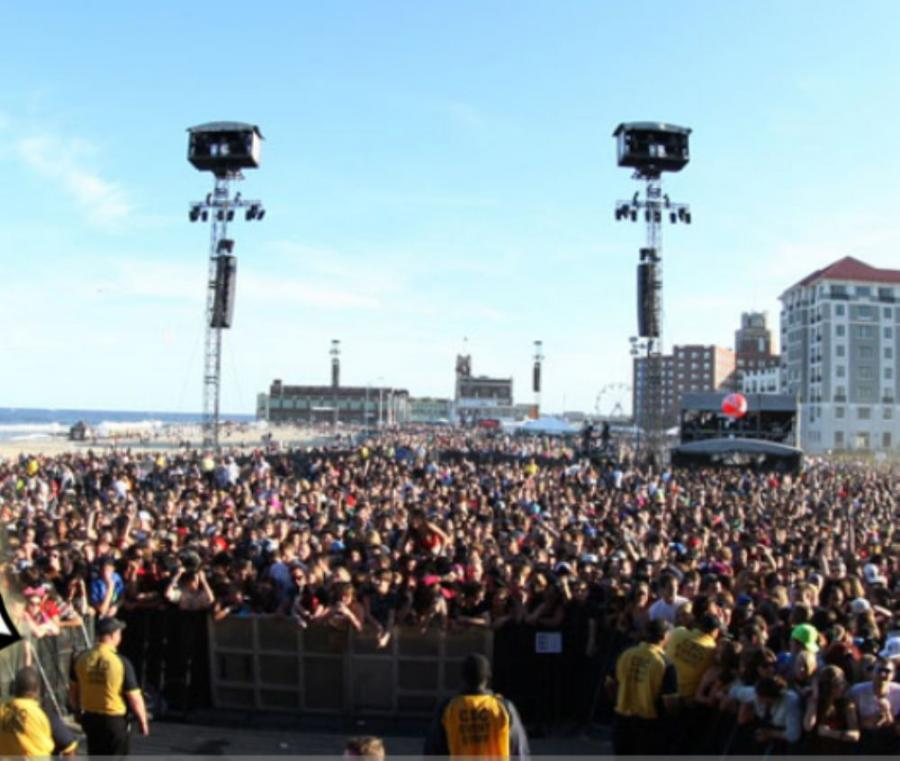 Photo courtesy of The Bamboozle Festival.  Acts such as Skrillex, Foo Fighters and Bon Jovi entertained a reported crowd greater than 50,000 people.