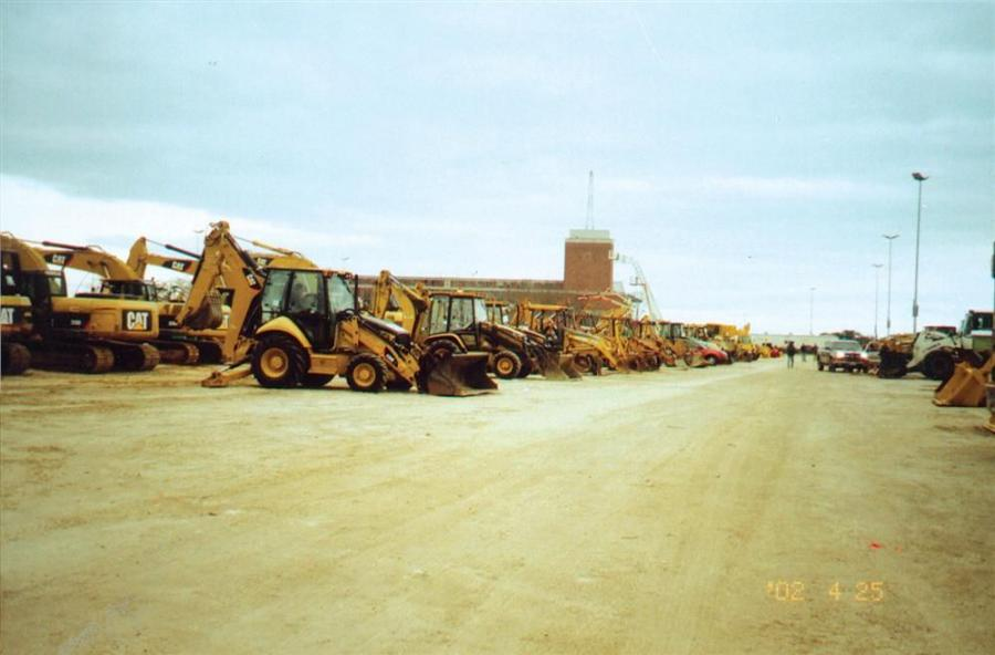 Backhoes were lined up as far as the eye could see at Alex Lyon's Atlantic City auction.