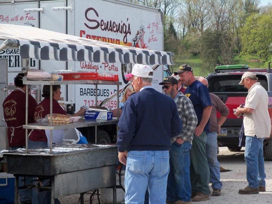 Sensinegs Catering Company is always ready to serve hungry bidders at McGrew Auctions Company sales in Seven Valleys, Pa.