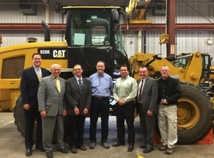 (L-R) are Ben Yates, East region manager of AED; Congressman Paul Tonko, N.Y. 21st District; Wayne Clark, industry organizations and government affairs manager of Milton CAT; Gib Gagnon, Milton CAT general sales manager of N.Y.; Jerry Leary, sales manager