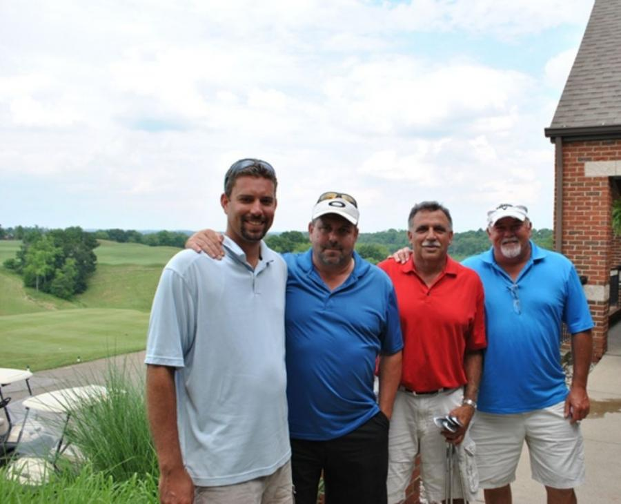 1st Place — The Beaver Falls Municipal Authority. (L-R) are Dave Syka, Ken Brewer, Sam Aloi and Jerry Litzenberg.