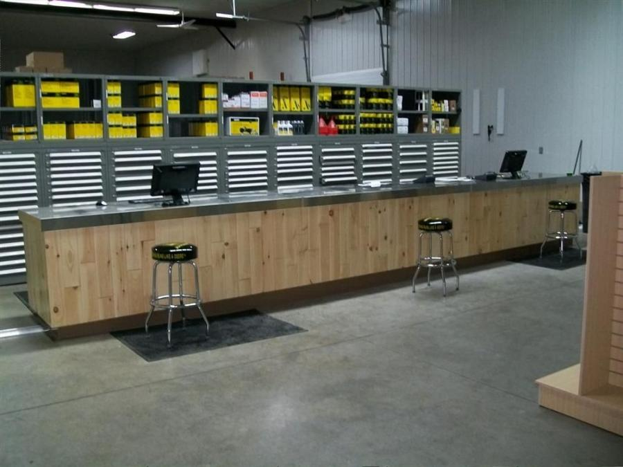 The stores are stocked with parts for John Deere repair and maintenance products.