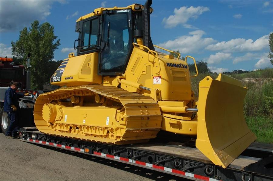 The first Komatsu D61PX-23 delivered to an end user in North America arrived at Sweet Peet of New York on Aug. 21, 2012.