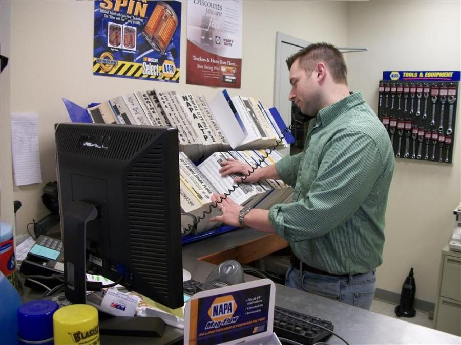 Tom Felten is the NAPA parts consultant at the Pine Bush Equipment location.