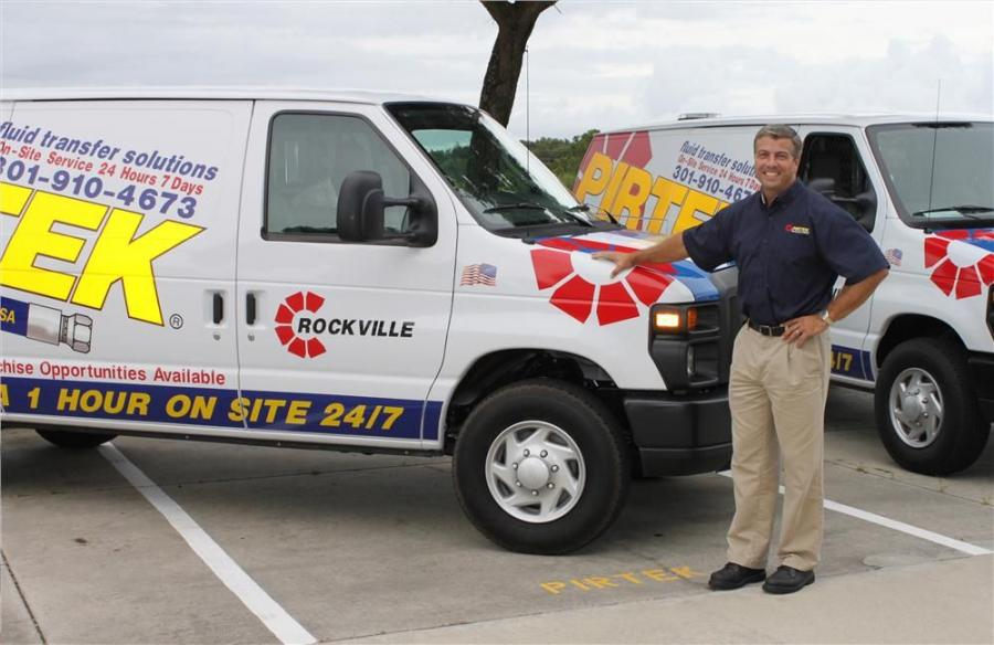 "David Entwistle is the owner of PIRTEK Rockville, which consists of three mobile service vans that are ready to ""manufacture"" hose assemblies at job sites, and a hose service center at 14803 Southlawn Lane, Suite A., Rockville, Md."