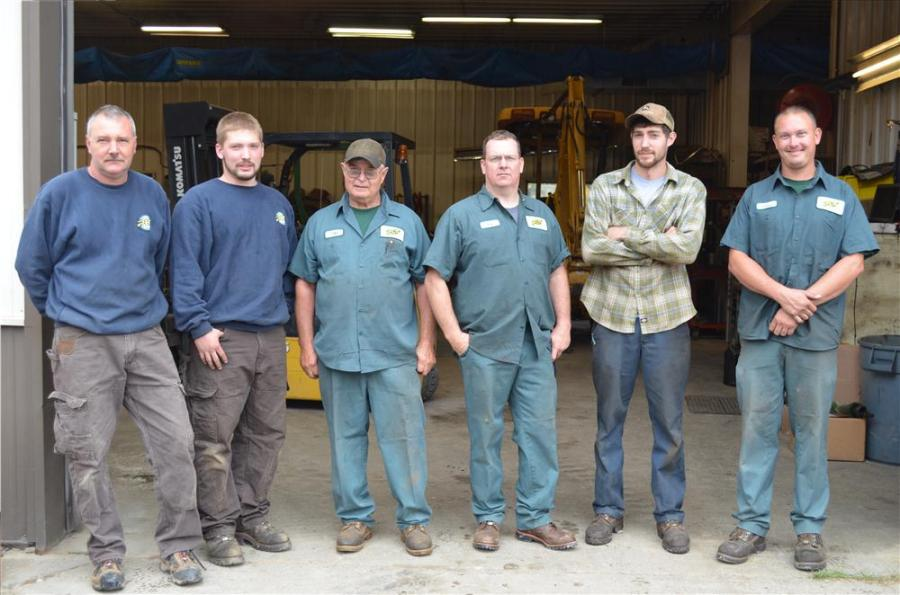 Service department employees (L-R) are Andy, Jesse, Peter, Rob, Chase and CJ.