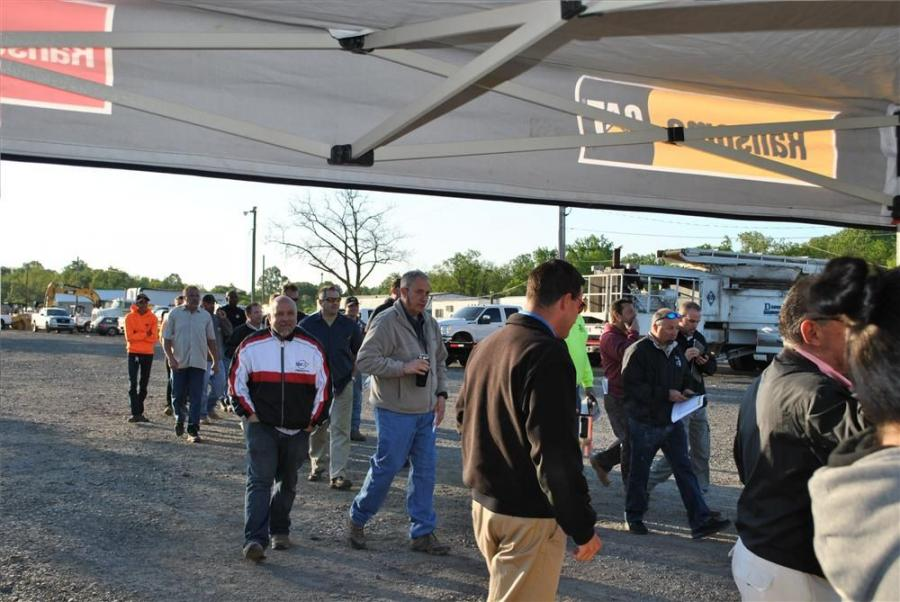 Bargain hunters arrived bright and early at 7 a.m. for the Ransome CAT 1-Day Sales Event in Bensalem, Pa.