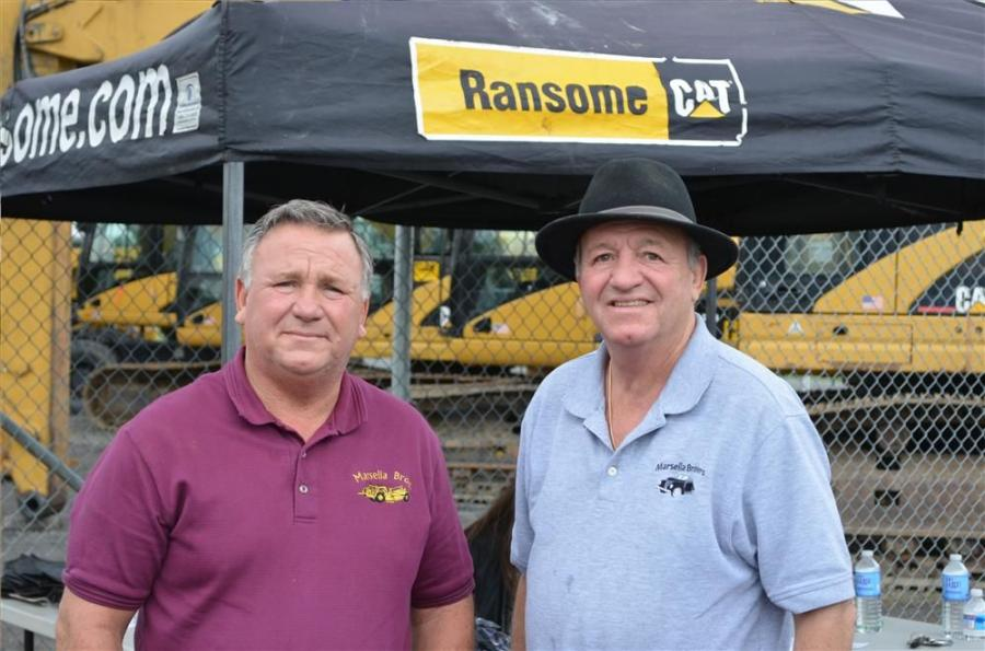 Tony (L) and Matt Marsella, owners of Marsella Brothers Inc., Sewell, N.J, stopped by the 1 Day Sales Event.