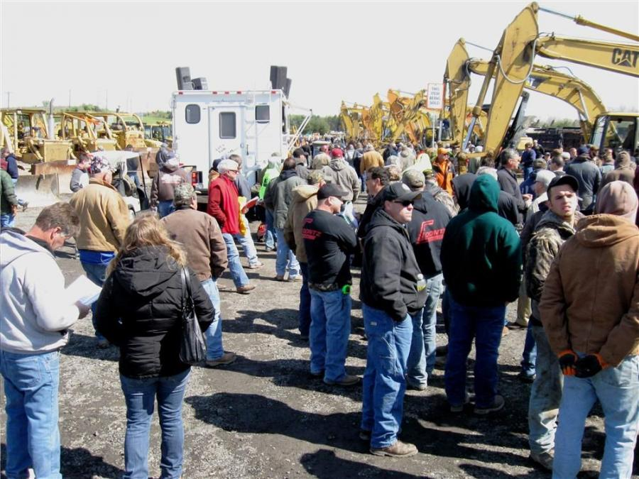 The auction drew a large crowd of bidders from Pennsylvania and surrounding states.