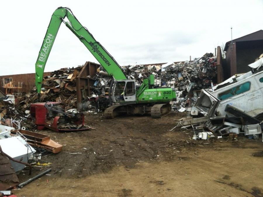 After shopping the new and used equipment market, Beacon's Clyde Cameron III found that the Sennebogen 830 R-HD offered the best balance of price and value in tracked machines for his two scrap facilities in Newark, N.J.