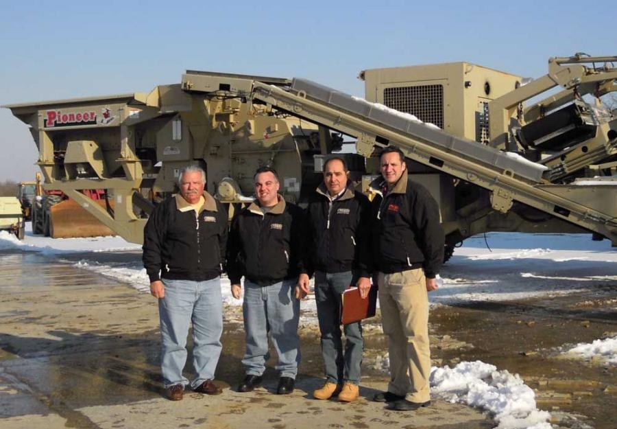 (L-R): Joe Pustizzi Jr., president and CEO of Trico Equipment Services; Andrew Pustizzi, vice president of operations; Andrew Volponi, vice president of strategic accounts and; Steven Scattolini, vice president and general manager are enthusiastically exp