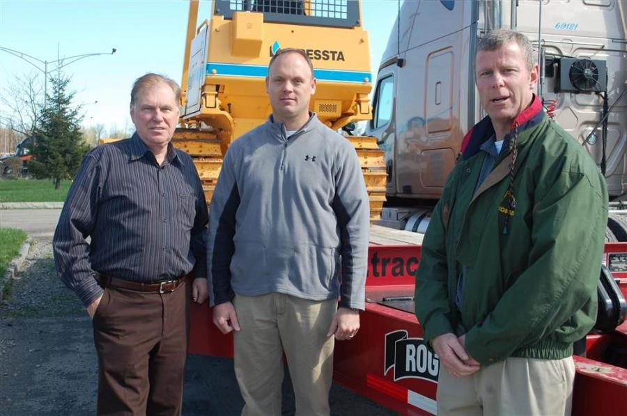 (L-R) are Jerry Tracey, president of Tracey Road Equipment; Steve Muhleman, Western N.Y. sales representative of Tracey Road Equipment; and Tim Delaney, Tracey Road Equipment sales representative of Onondaga, Cortland and Monroe counties.