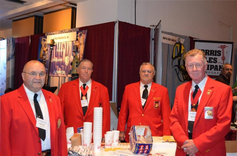 Toys for Tots was out in force at the UTCA Convention. Collecting donations (L-R) are Robert Moran, Ronald Powell, Thomas Knoells and Maurice Loveland.