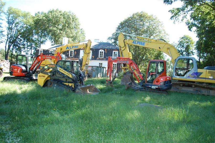 The Alpine Construction equipment fleet is ready to tackle the demolition of another mansion in Greenwich, Conn.