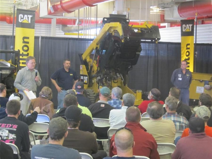 A total of 236 individuals representing 139 companies attended one of the four Lunch and Learn Seminars held in Milford, Mass., in March. (L-R): Milton CAT Events Manager Eric Griffin served as seminar facilitator with Compact Equipment Shop Service Super