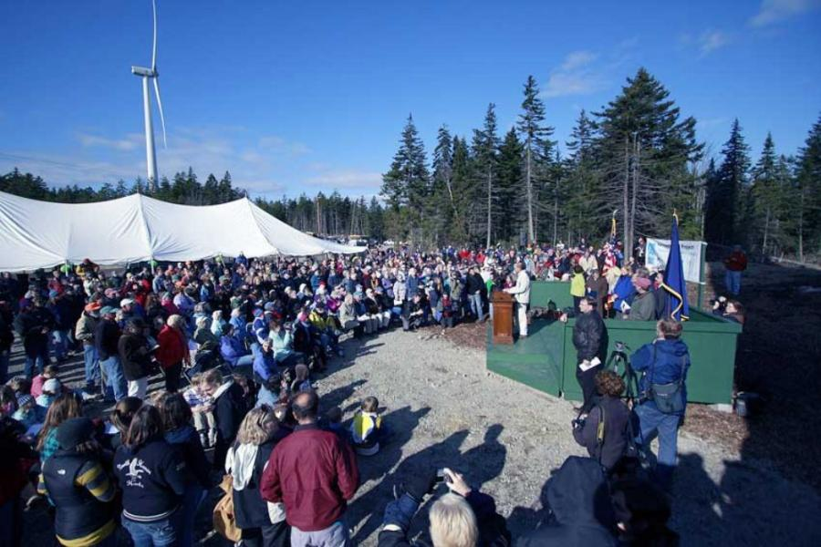 With Maine's Cianbro finishing construction work this summer, Fox Island Wind LLC celebrated new wind power for the towns of North Haven and Vinalhaven, Maine, with a ribbon-cutting ceremony in November.
