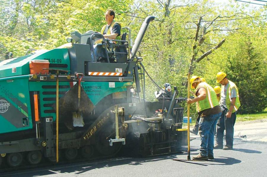 Lawrence-Lynch Corp. has come to rely on Wood's CRW Corp. of NH, Hooksett, N.H., to handle many of its equipment needs, including the recent purchase of a Vögele Vision 5200-2 paver.