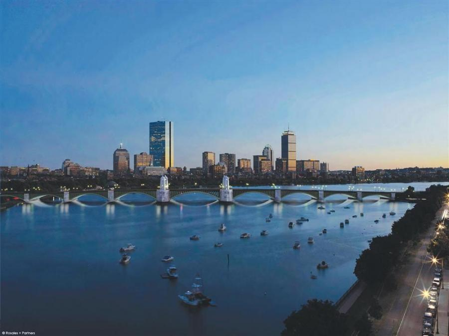 A rendering of the finished Longfellow Bridge reconstruction.
