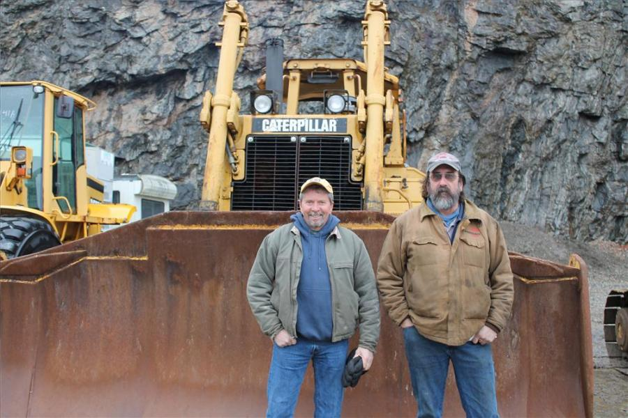 Dan McHugh (L), owner of Brookside Equipment in Phillipston, Mass., and Dan Stoughton, owner of  Mountaintop Rentals in Torrington, Conn., were ready to shop.