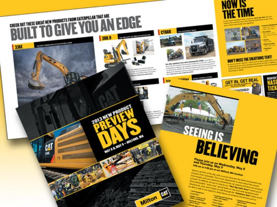Milton CAT's Product Preview Days is designed to give guests the chance to see and then try Caterpillar's newest machines.