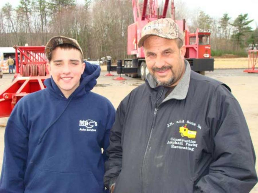 Tyler Devoll (L) of Swansea Trucking and Excavating, Swansea, Mass., and David Raposo of J.R. and Sons Inc., Westport, Mass., attended the heavy equipment auction on March 24.