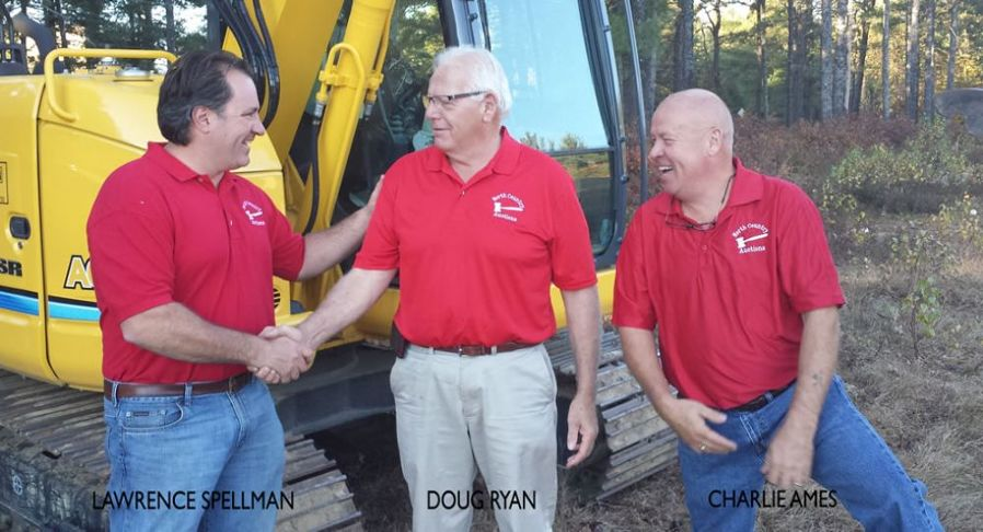 Doug Ryan has joined the team at North Country Auctions as auctioneer and heavy equipment sales specialist. (L-R) are Lawrence Spellman, Ryan and Charlie Ames.