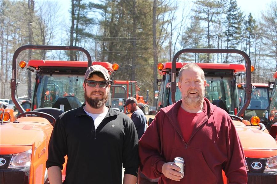 Jason (L) and Kevin Hurley, owners of Hurley Electric in Canaan, N.H., make it an annual tradition to attend Townline Equipment's open house.