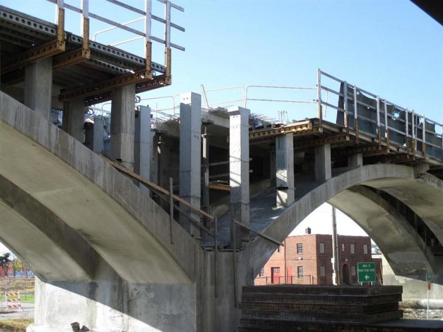 Cardi Corporation of Warwick is the general contractor of the $21.2 million job, which will see RIDOT rebuild the cracked section of the original bridge that carries the existing narrow bikeway and a section of the original highway.
