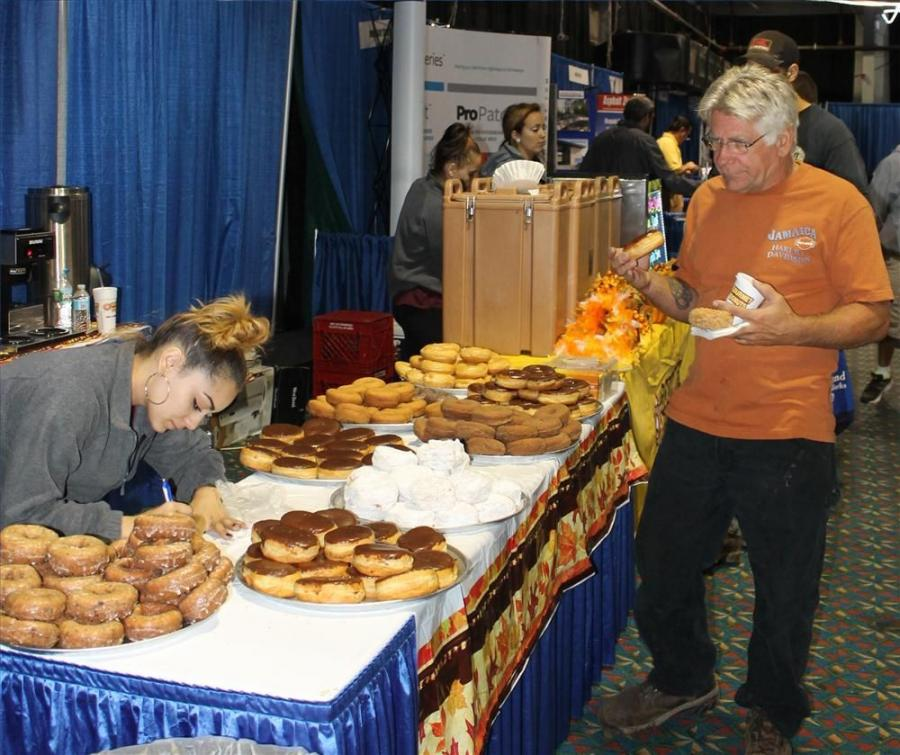 The Expo provided a variety of gourmet donuts and coffee, compliments of Felix A. Marino Co. Inc., pavement maintenance contractors from Peabody, Mass.