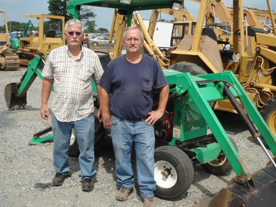 Dave (L) and Mike Bartley, Bartley Construction Company, Augusta County, Va., came looking to buy a few smaller items including this Teramite backhoe.