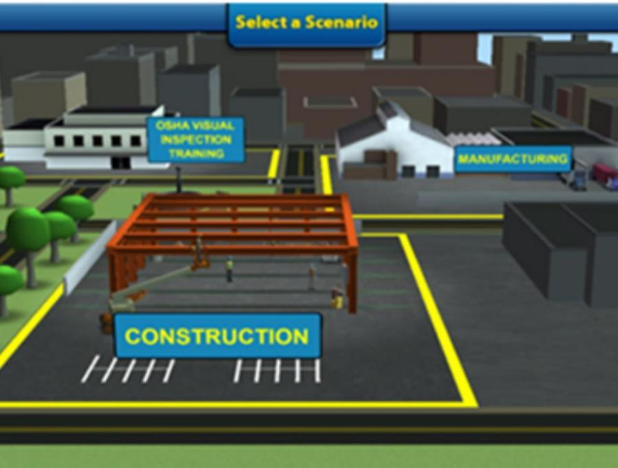 OSHA Visual Inspection Training Game Play: The OSHA Visual Inspection Training offers the user an opportunity to practice a visual inspection and find hazards.