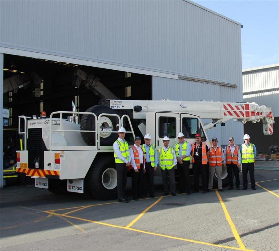 On Friday, March 6, Roger Penske – founder and chairman of Penske Corporation and IndyCar Series and NASCAR Racing legend – and five members of Penske Corporation made a pit stop at the Terex manufacturing facility in Eagle Farm, Australia.