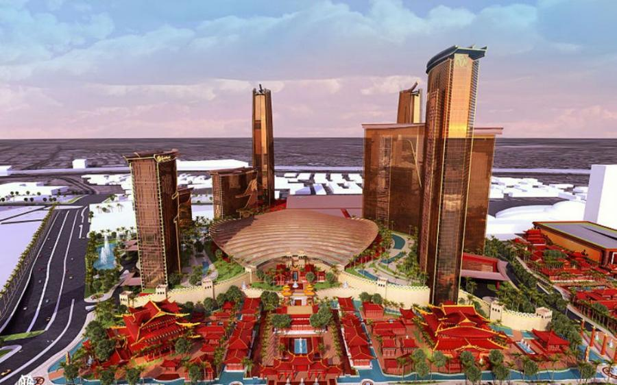 The developer of a sprawling Chinese-themed resort on the Las Vegas Strip said Tuesday that the long-awaited hotel-casino on the former site of the Stardust Hotel is expected to open by mid-2018.