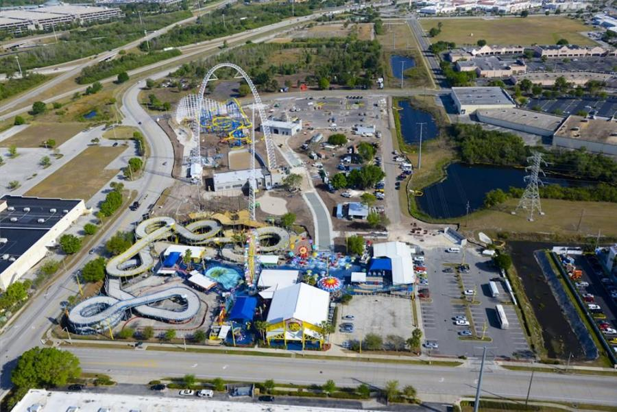 Fun Spot America is celebrating an expanded park featuring new rides and attractions, including the gigantic and hair-raising SkyCoaster ride.
