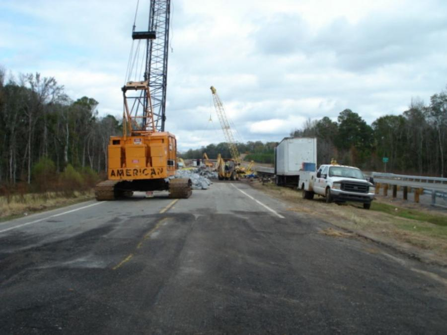 Construction that will create four new bridges as part of a major overhaul is well under way on the Appling County border in Georgia.