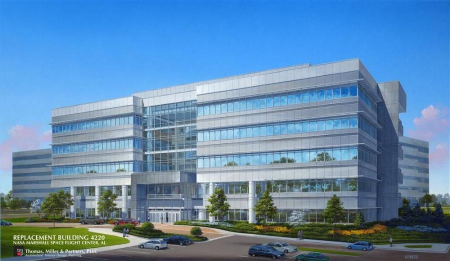 Rendering of what the completed building will look like.