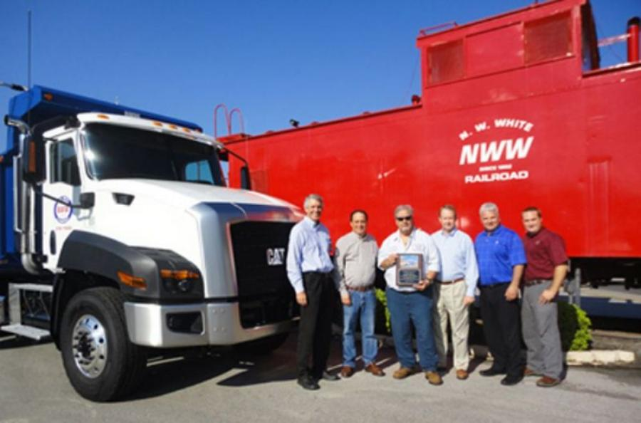 Blanchard Machinery recently delivered the first Cat CT660 truck sold in South Carolina to N. W. White & Co. Photo courtesy of Blanchard Machinery.
