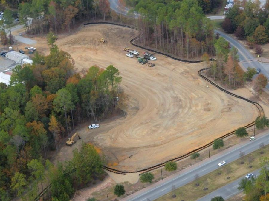Unfortunately the area cleared for the new biological sciences building was one of the last wooded sites remaining on the GSU campus, according to McMakin. They were, however, able to maintain the trees around the site; they only cleared what they had to