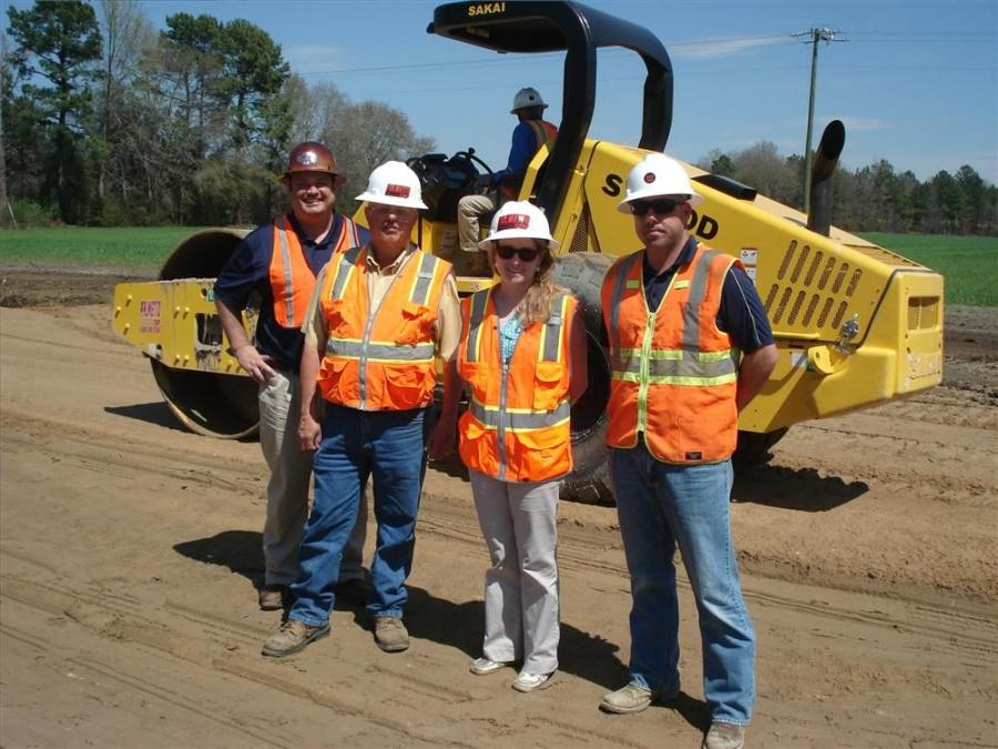 Richie Ambrose, May Heavy Equipment; and Charlie Goll, Sarah Jeffcoat and John Blanding all of Palmetto Corp talk about the compaction and consistency provided by Sakai products.
