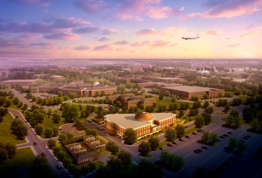Construction on the National Oceanic and Atmospheric Administration's (NOAA) Integrated Water Resources Science and Services (aka the National Water Center) began in spring 2012 on the University of Alabama (UA) campus in Tuscaloosa.
