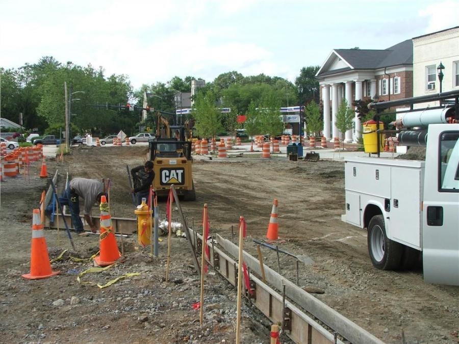 The old water main in Hendersonville, N.C., was from the 1920s, so the city took advantage of a major landscaping project to take care of the problem.