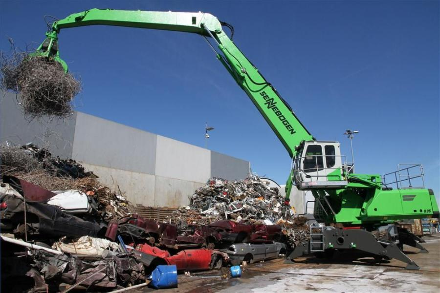 The biggest market for Sennebogen material handlers has predominantly been scrap yards and steel mills.