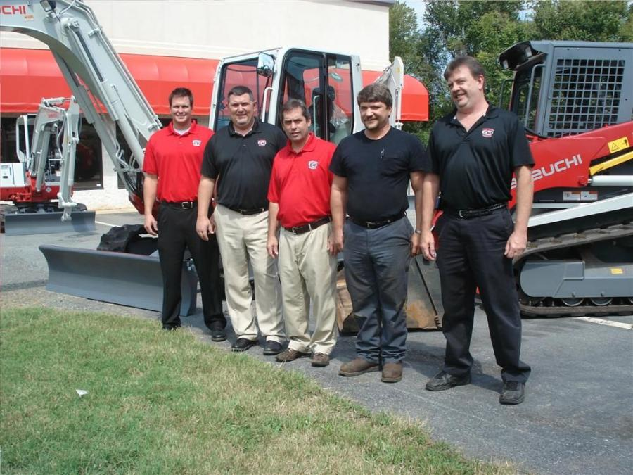 (L-R) are Jay Williford, president, Robert Wallace, Patrick Cudicio, Mike Hilliard and Avery Hill.