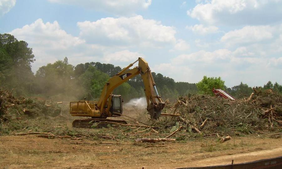 During land clearing, trees and brush were processed through a tub grinder, which produced 775 tons (703 t) of mulch that was hauled to local plants to be used as fuel.  This will contribute to the project's LEED certification through waste manageme