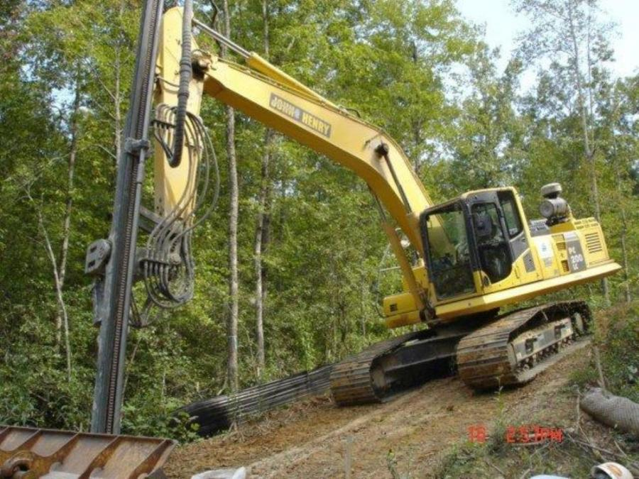 Sanders Utility Construction Company Inc. is working in a remote rural area of upstate South Carolina to install a cross-country waterline bringing fresh water to Greenville, S.C., from a reservoir near Travelers Rest.